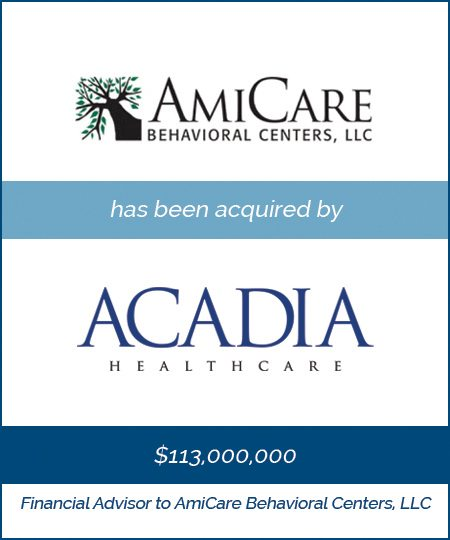 Acadia Healthcare Acquires AmiCare Behavioral Centers*