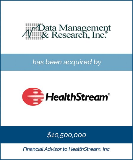 HealthStream Acquires Data Management & Research