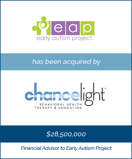 Early Autism Project has been acquired by ChanceLight Behavioral Health, Therapy and Education