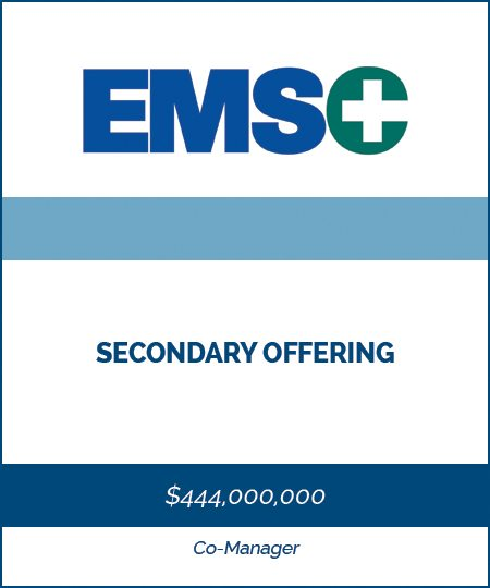 EMSC – Secondary Offering*