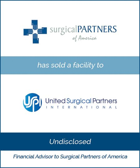 United Surgical Partners Buys a Surgical Partners of America Facility*