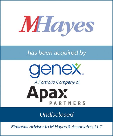 Genex Services, a Portfolio Company of Apax Partners Acquires M Hayes