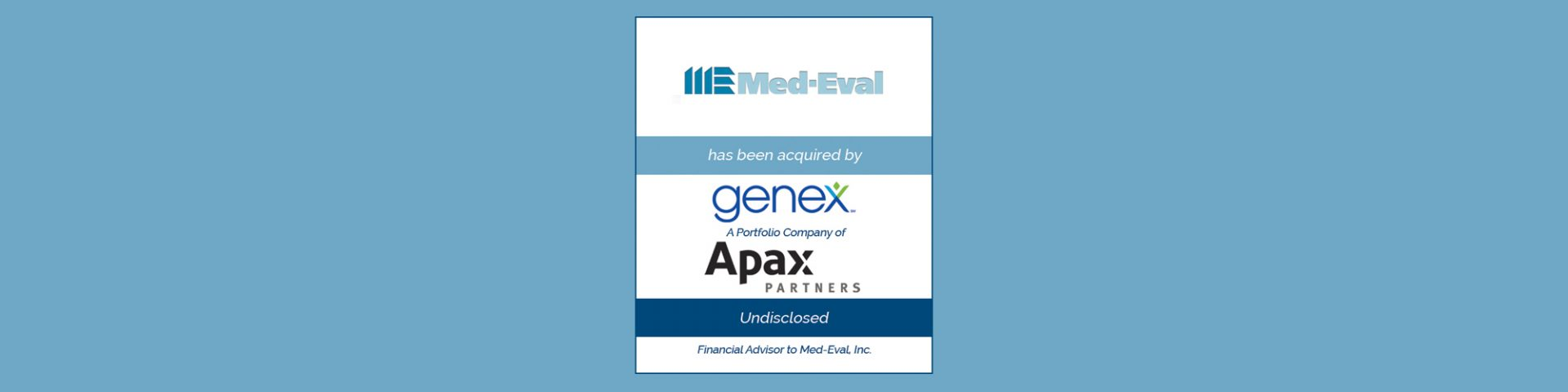 Genex Services Acquires Med-Eval | Bailey Southwell & Co.