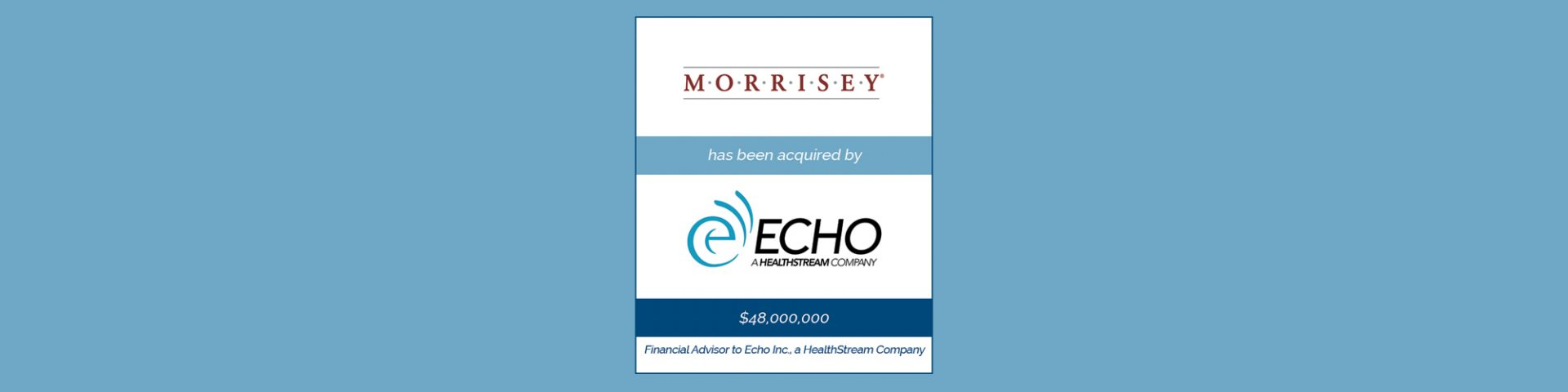 HealthStream Acquires Morrisey Associates | Bailey Southwell & Co.
