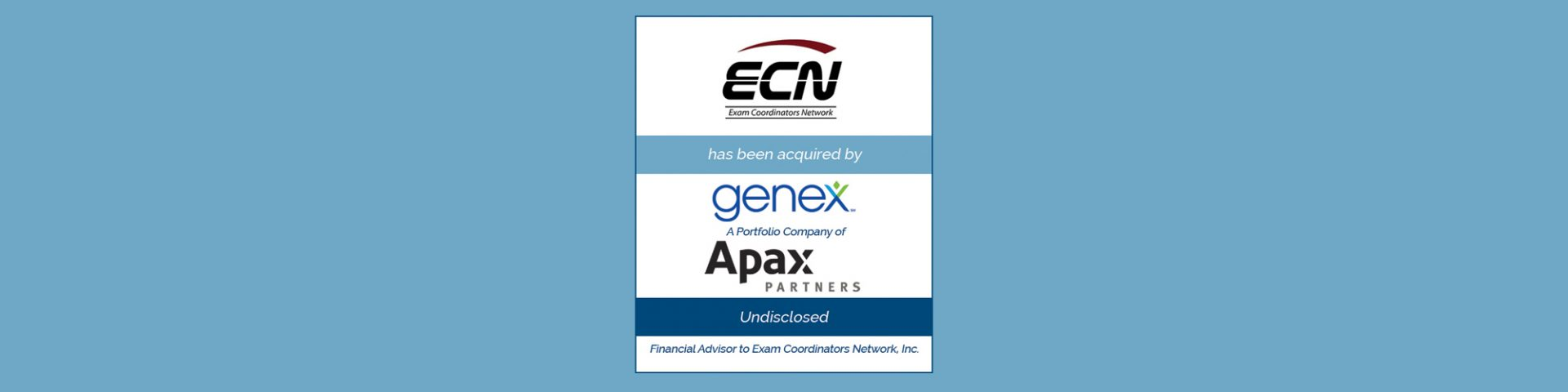 Genex Services Acquires Exam Coordinators Network | Bailey Southwell & Co.