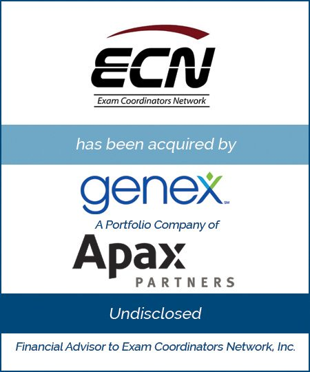 Genex Services, a Portfolio Company of Apax Partners Acquires Exam Coordinators Network
