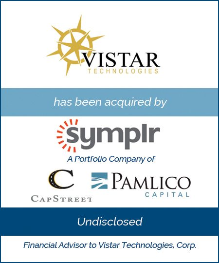 symplr, a Portfolio Company of CapStreet and Pamlico Capital Acquires Vistar Technologies