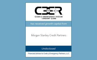 Code 3 Emergency Partners Receives Growth Capital from Morgan Stanley Credit Partners