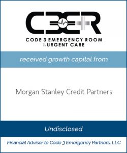 Code 3 Receives Growth Capital from Morgan Stanley