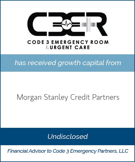 Code 3 Receives Growth Capital from Morgan Stanley Credit Partners