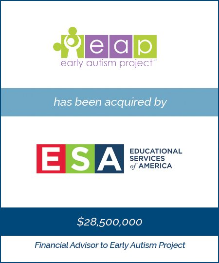 Early Autism Project has been acquired by Educational Services of America