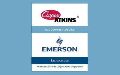 Bailey Southwell & Co. Represents Cooper-Atkins in its Sale to Emerson Electric