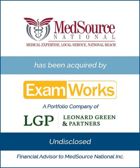 MedSource has been acquired by ExamWorks