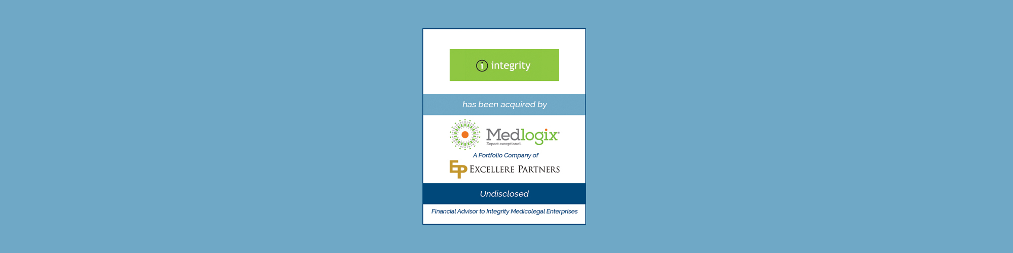 Bailey Southwell & Co. Advises Integrity Medicolegal Enterprises on Sale to Medlogix