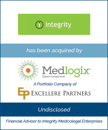 Integrity Medicolegal Enterprises has been acquired by Medlogix
