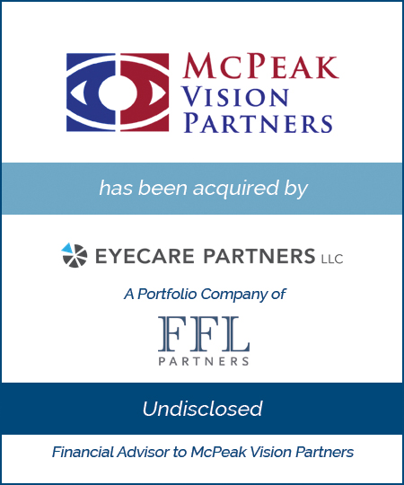 McPeak Vision Partners has been acquired by EyeCare Partners