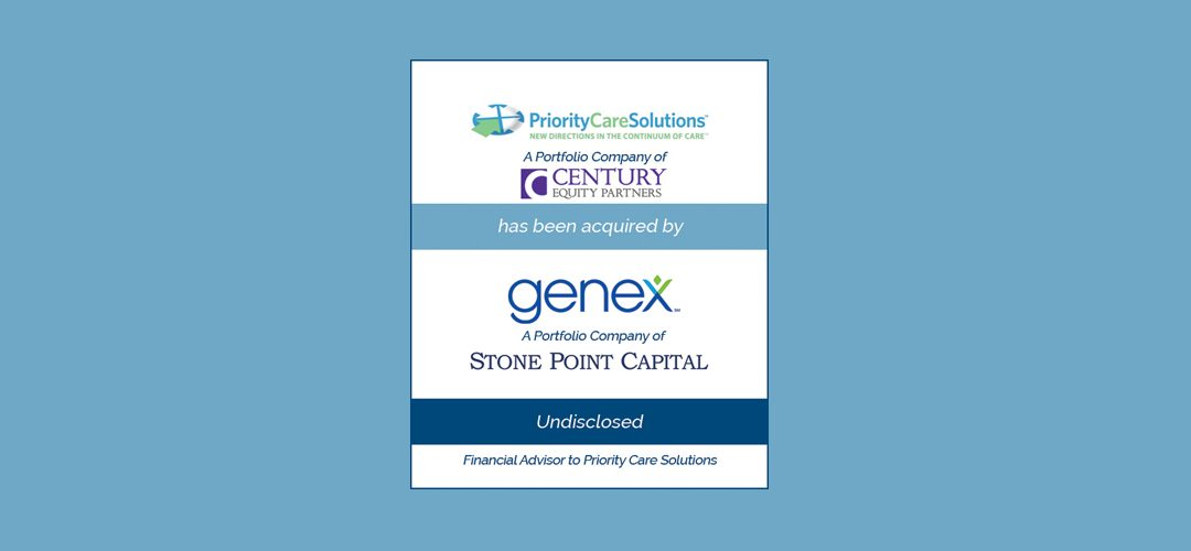 Bailey Southwell & Co. Advises Priority Care Solutions on Sale to Genex Services
