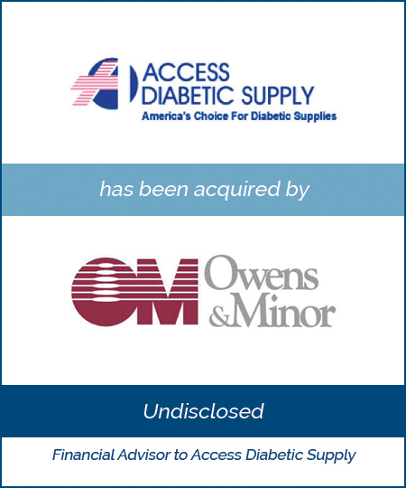 Access Diabetic Supply has been acquired by Owens & Minor