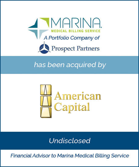 Marina Medical Billing Service has been acquired by American Capital