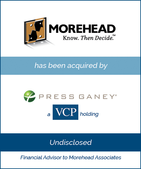 Morehead Associates has been acquired by Press Ganey