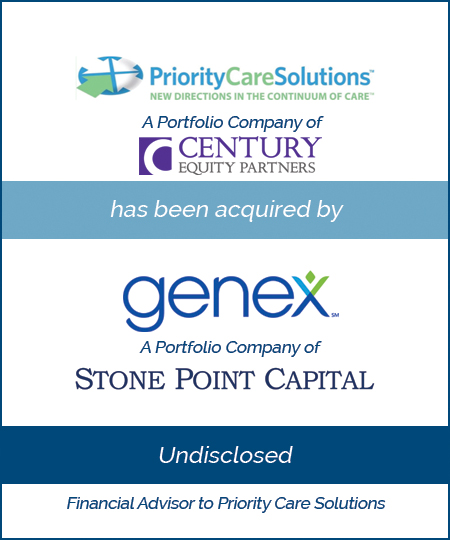 Priority Care Solutions has been acquired by Genex Services