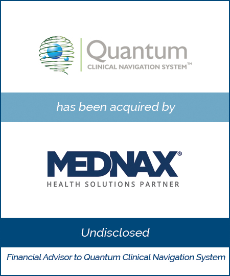 Quantum Clinical Navigation System has been acquired by Mednax