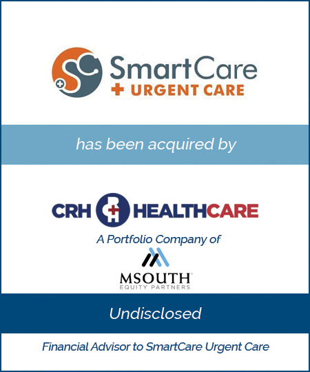 SmartCare Urgent Care has been acquired by CRH Healthcare