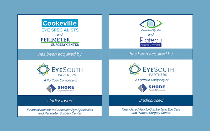 Bailey Southwell & Co. Represents Two Ophthalmology Practices in a Combined Transaction With EyeSouth Partners