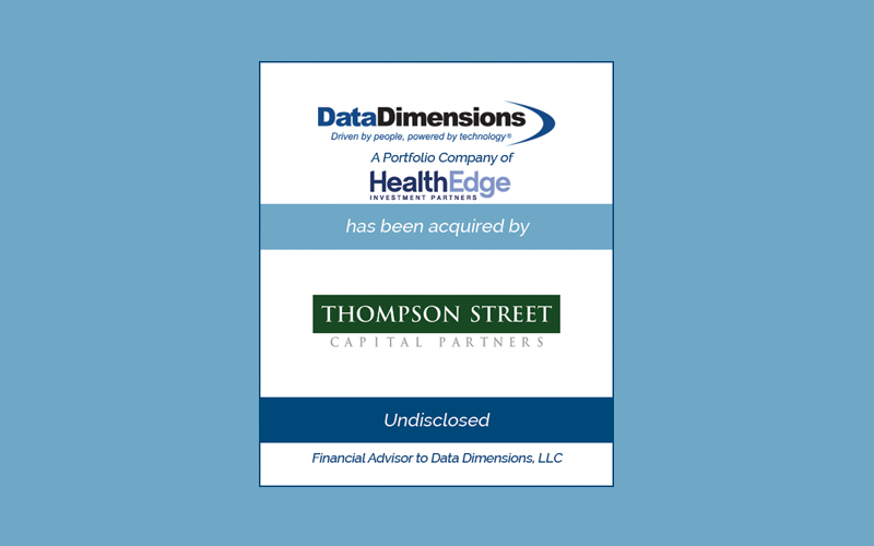 Bailey Southwell & Co. Advises Data Dimensions in its Sale to TSCP