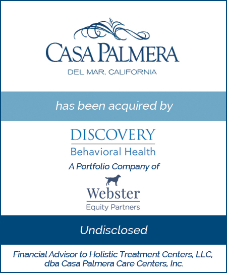 Casa Palmera has been Acquired by Discovery Behavioral Health