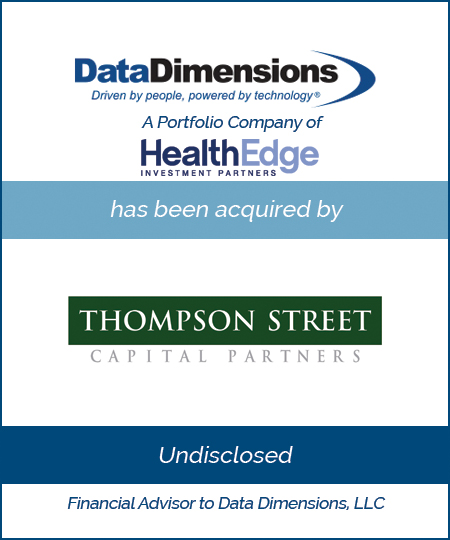Data Dimensions has been Acquired By Thompson Street Capital Partners