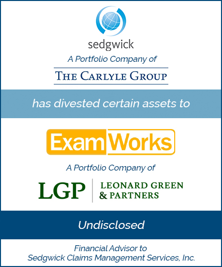 Bailey Southwell & Co. Advises Sedgwick in a Divestiture to ExamWorks