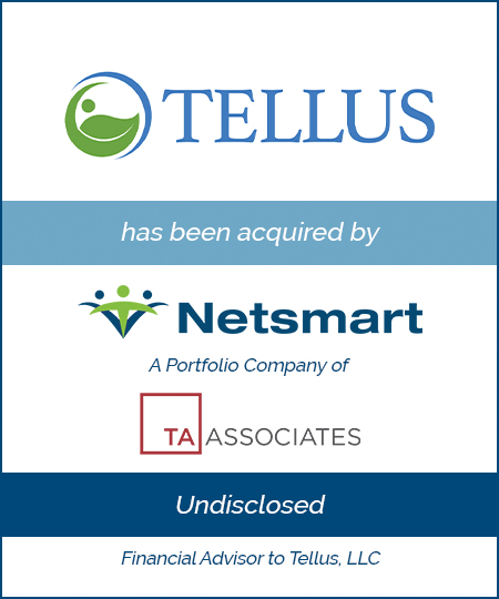Tellus Has Been Acquired by Netsmart, a Portfolio Company of TA Associates