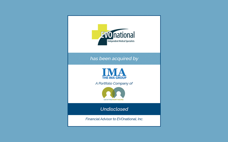 Bailey Southwell & Co. Advises EVOnational in its Sale to The IMA Group