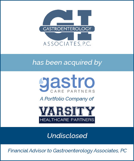 Bailey Southwell & Co. Advises Gastroenterology Associates in its Sale to Gastro Care Partners