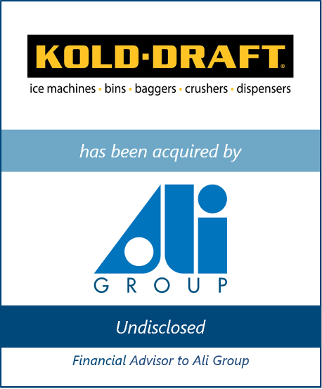 Bailey Southwell & Co. Serves as Exclusive Financial Advisor to Ali Group on its Acquisition of KOLD-DRAFT International