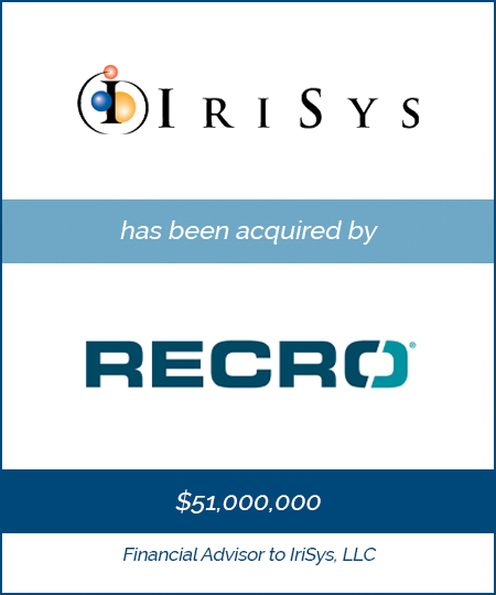 Bailey Southwell & Co. Serves as Exclusive Financial Advisor to IriSys, LLC