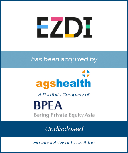 Bailey Southwell & Co. Advises ezDI in its Sale to AGS Health